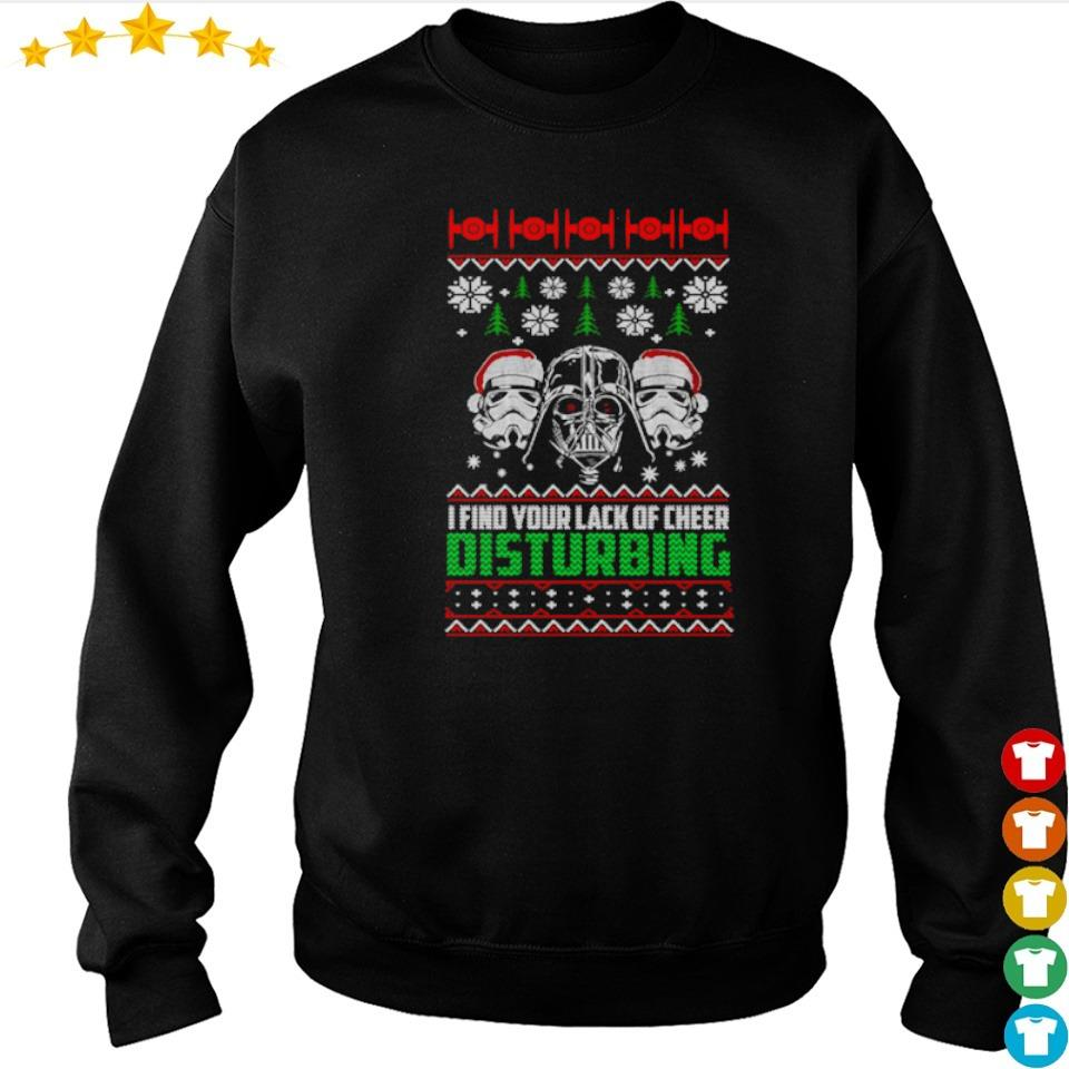 Star Wars I find your lack of cheer disturbing Christmas sweater