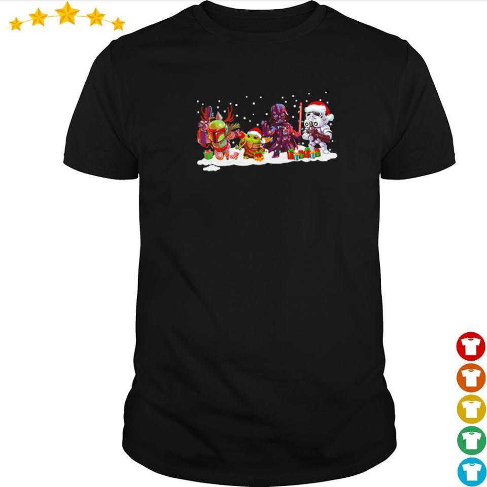 Star Wars The Mandalorian Baby Yoda and Darth Vader Christmas sweater shirt