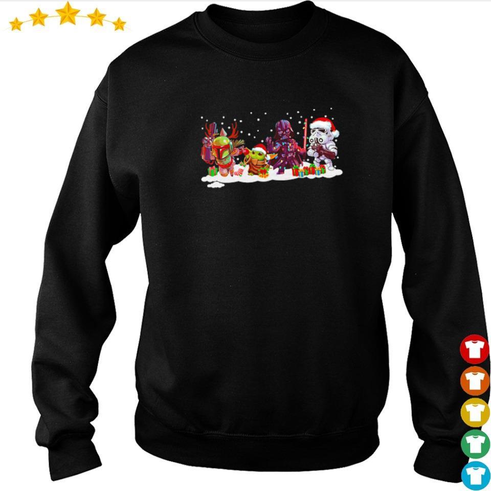 Star Wars The Mandalorian Baby Yoda and Darth Vader Christmas sweater
