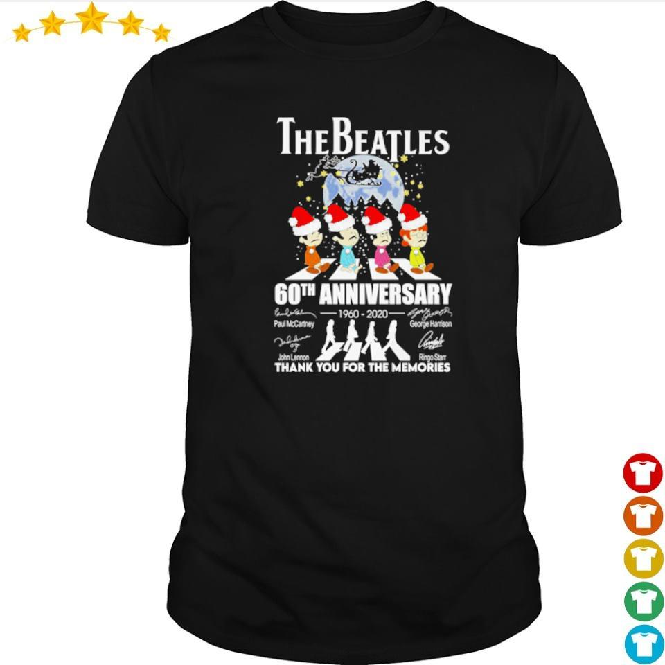 The Beatles 60th anniversary 1960 2020 thank you for the memories Christmas sweater shirt