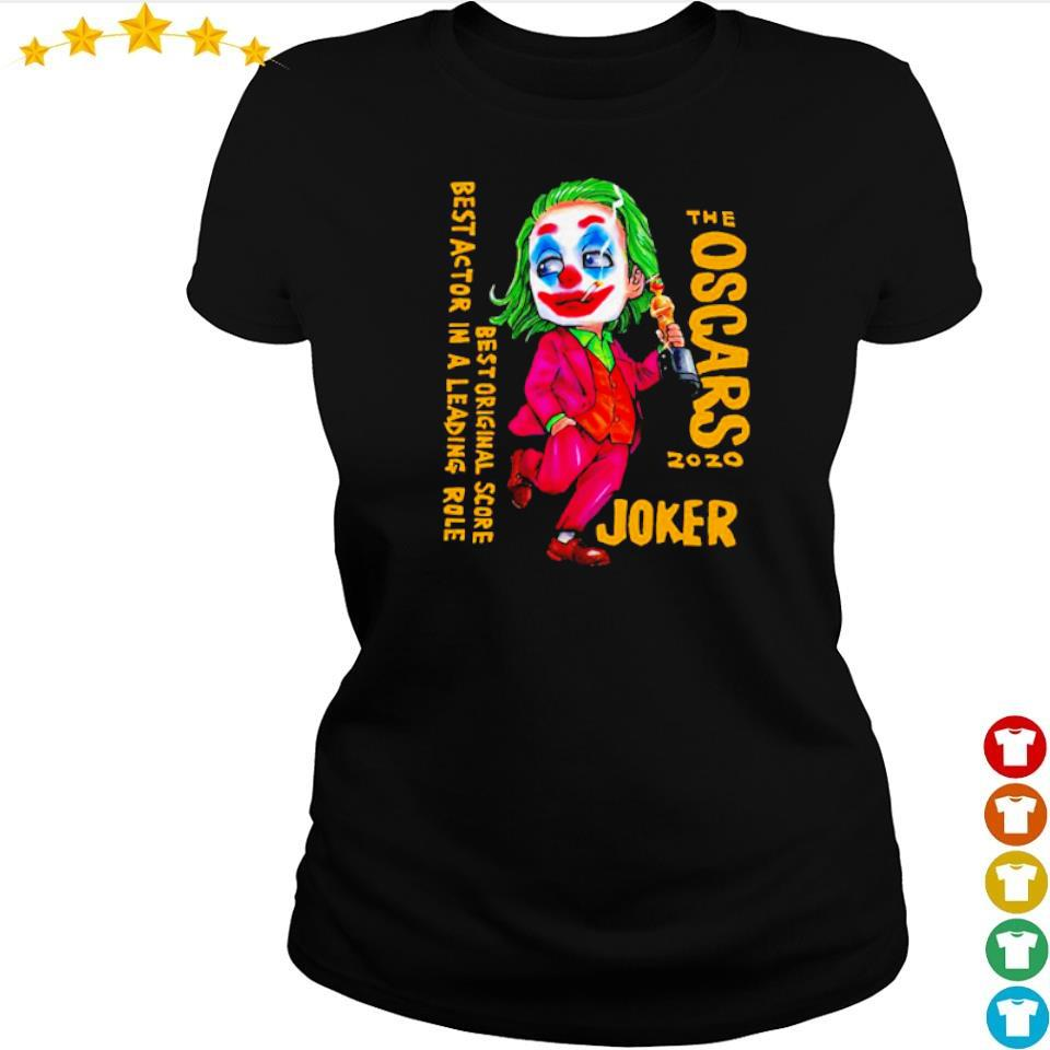 The Oscars 2020 Joker best original score best actor in a leading role s ladies tee