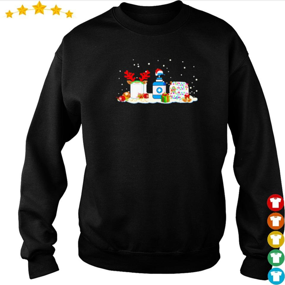 Toilet paper and hand sanitizer merry Christmas sweater