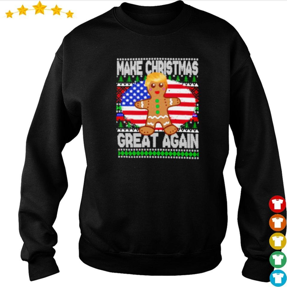 Trump gingerbread make Christmas great again sweater