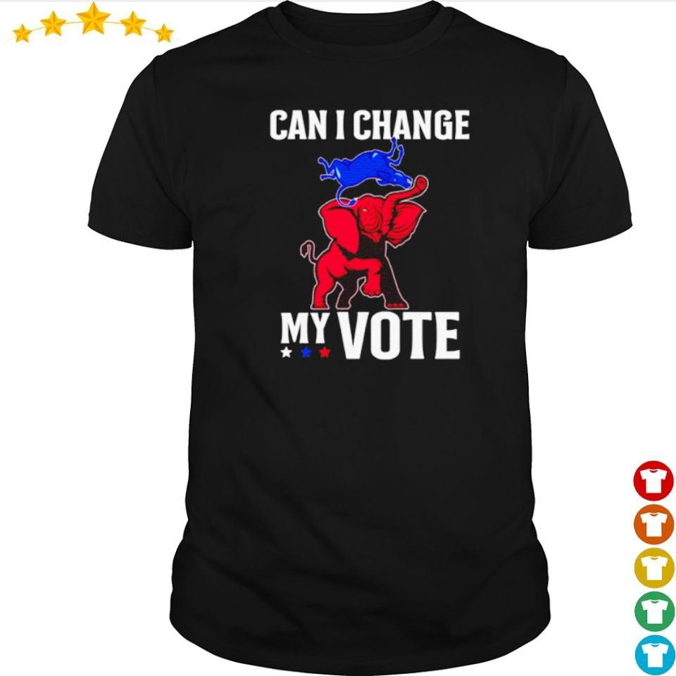 Trump vs Biden can I change my vote shirt