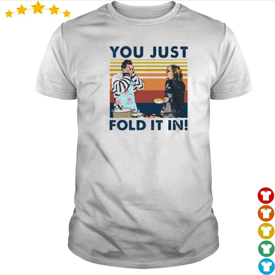 You just fold it in vintage shirt