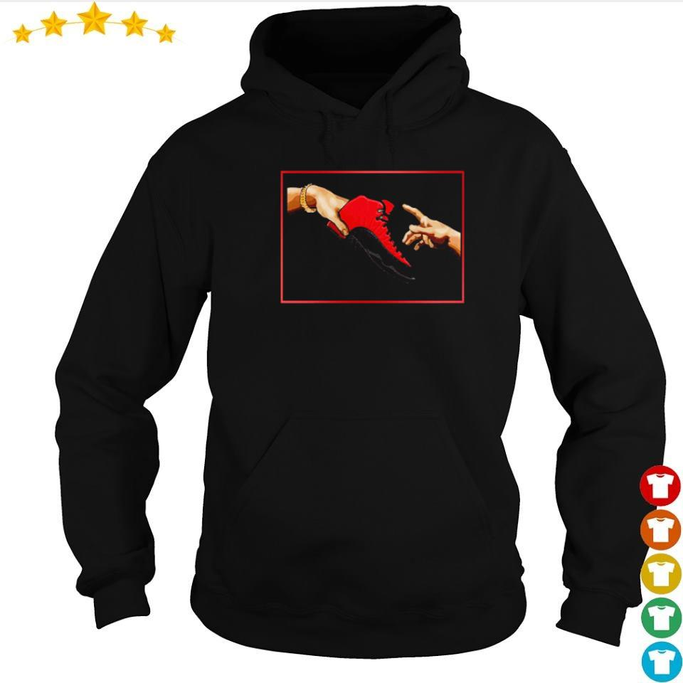 Adam's Creation and Nike Air Jordan 12 Reverse Flu Game s hoodie