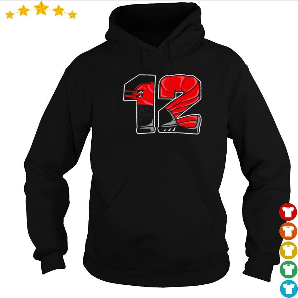 Nike Air Jordan 12 retro flu game number 12 s hoodie