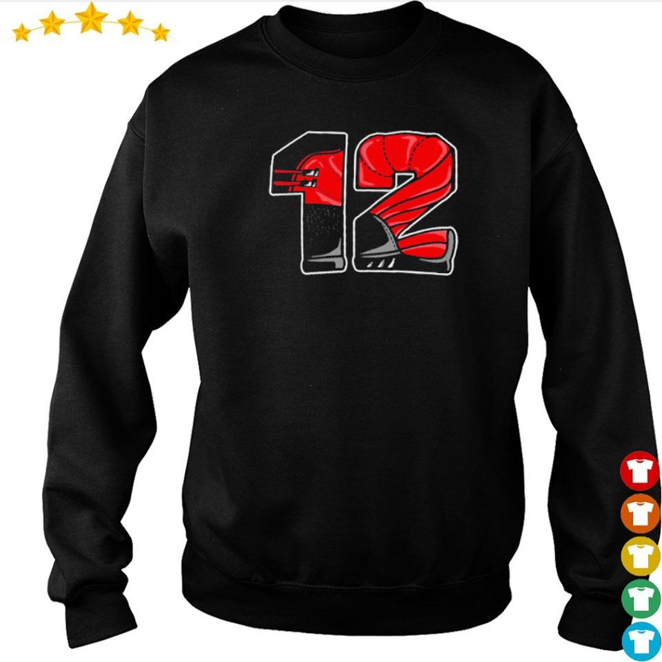 Nike Air Jordan 12 retro flu game number 12 shirt