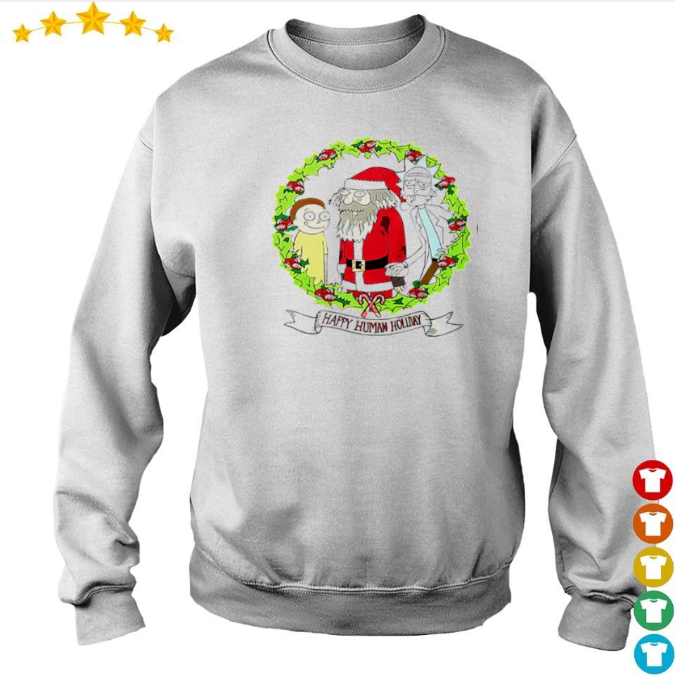 Rick and Morty happy human holiday Christmas sweater
