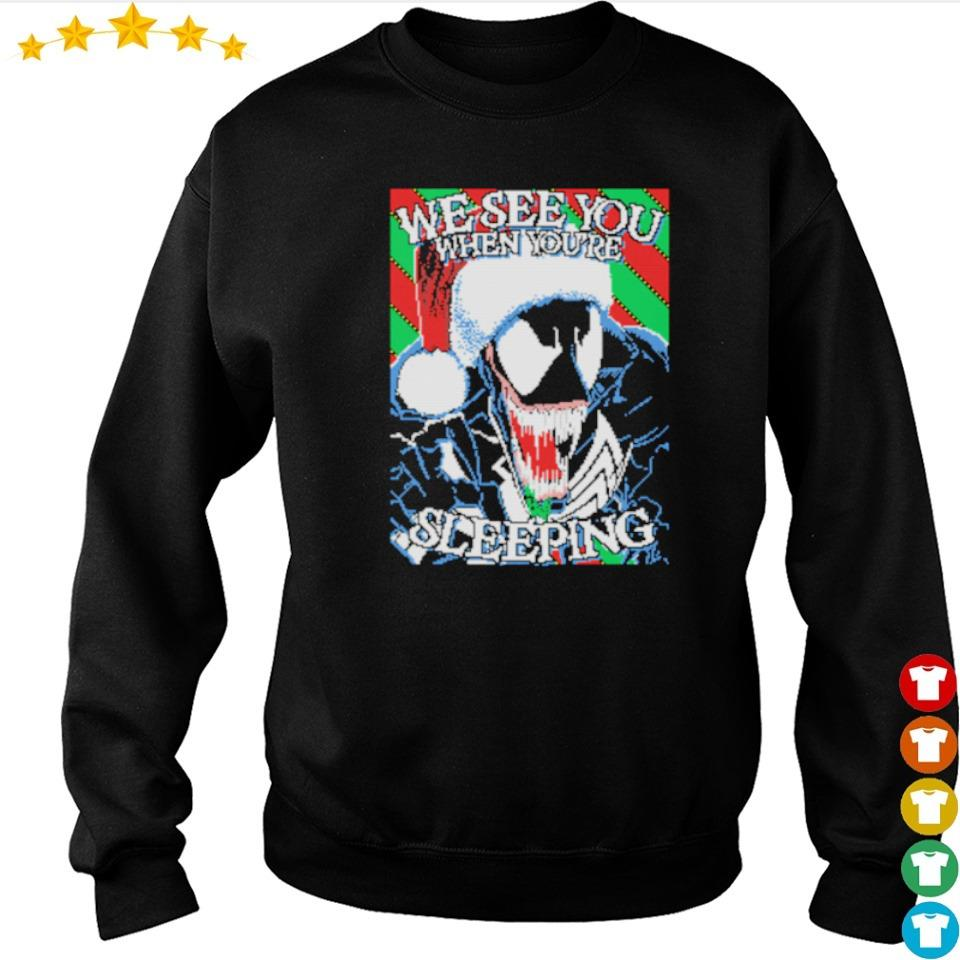 Venom we see you when you're sleeping Christmas sweater