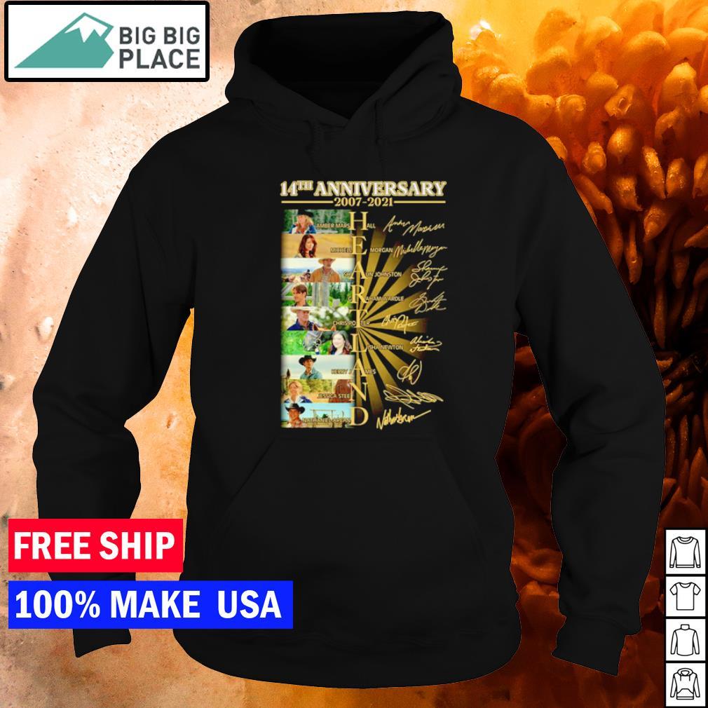 14th anniversary of Heartland 2007-2021 s hoodie