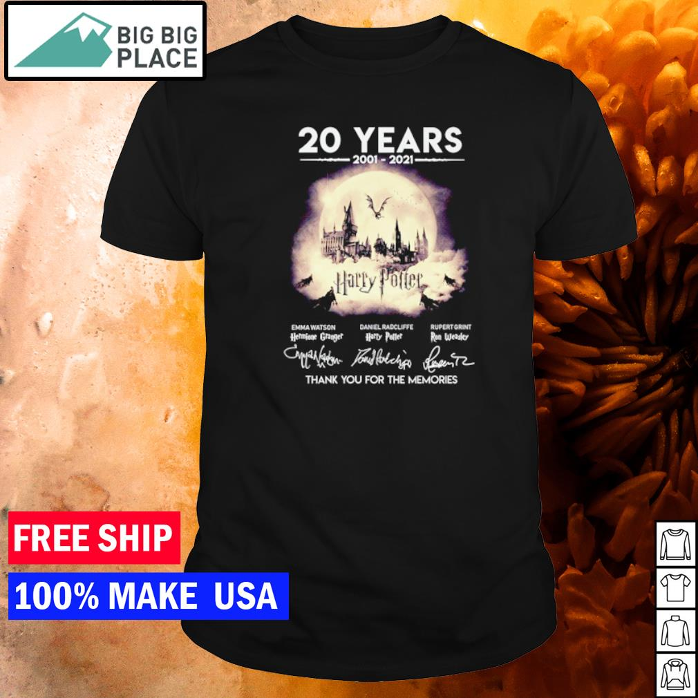 20 years of Harry Potter thank you for the memories shirt