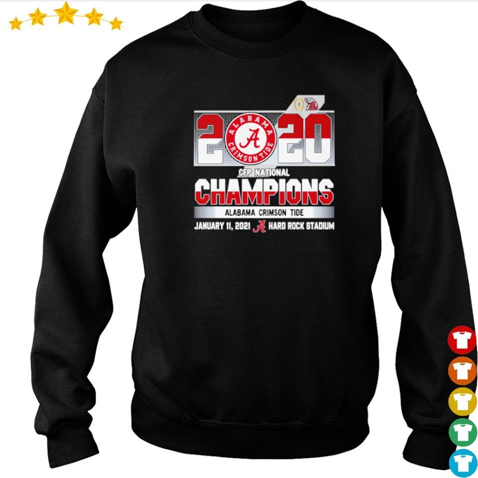 2020 Alabama Crimson Tide CFP National Champions january 11 2021 Hard Rock Stadium s sweater