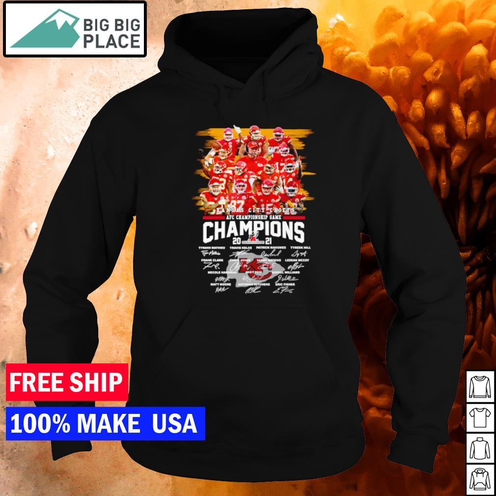 AFC Championship Game Kansas City Chiefs signature s hoodie