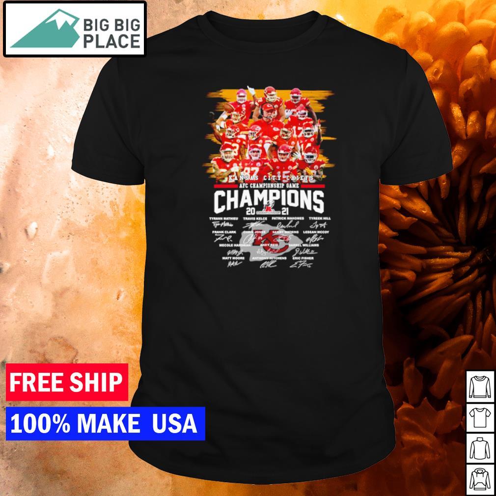 AFC Championship Game Kansas City Chiefs signature shirt