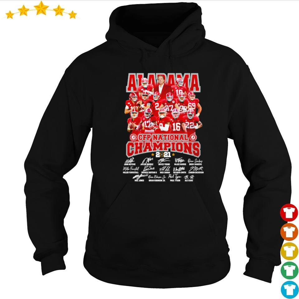 Alabama Crimson Tide CFP National Champions 2021 signature s hoodie