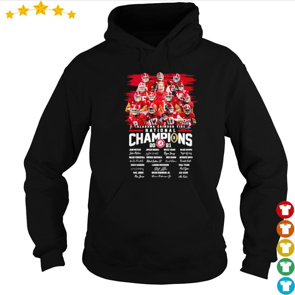 Alabama Crimson Tide National Champions 2021 team players signature s hoodie
