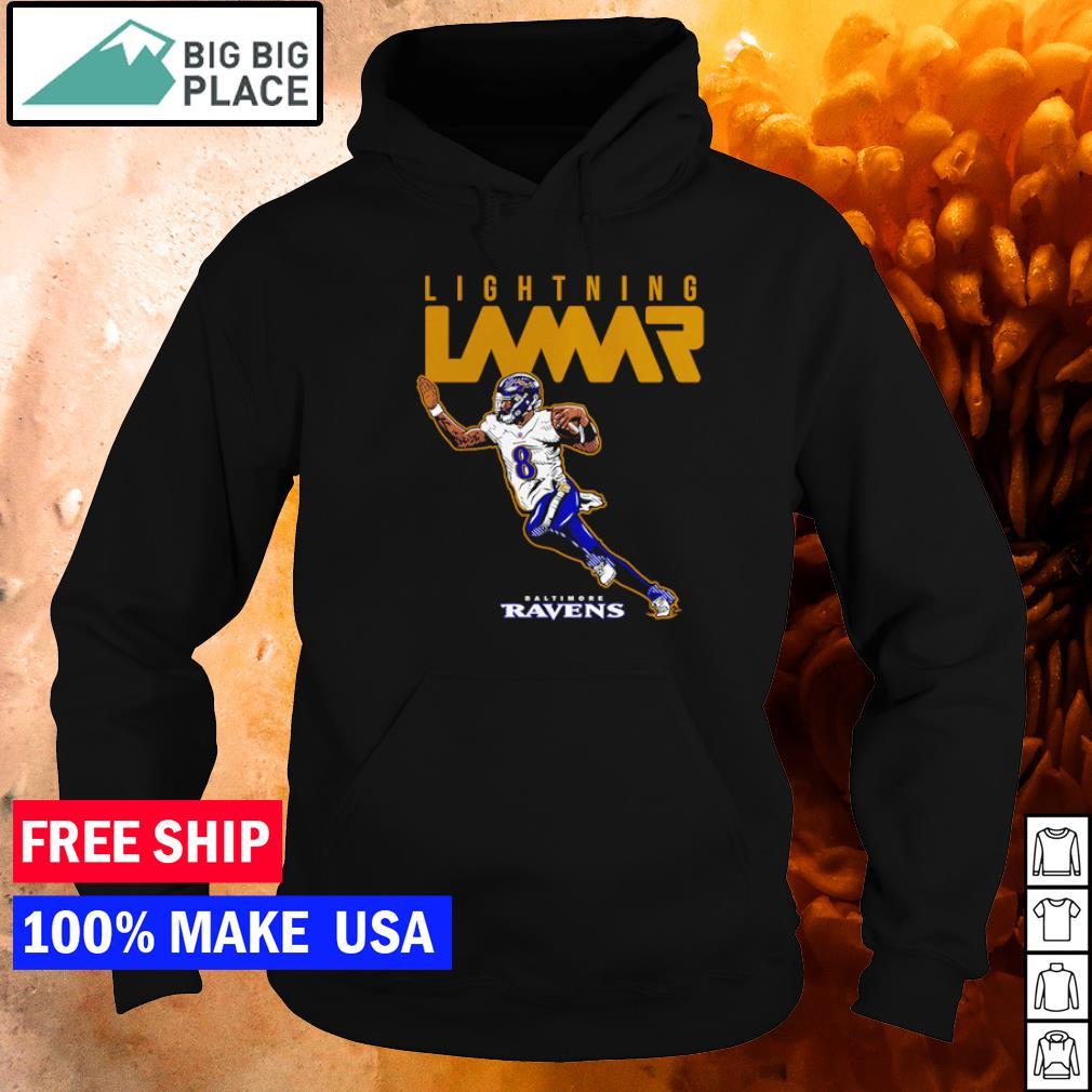Baltimore Ravens lightning Lamar Jackson s hoodie