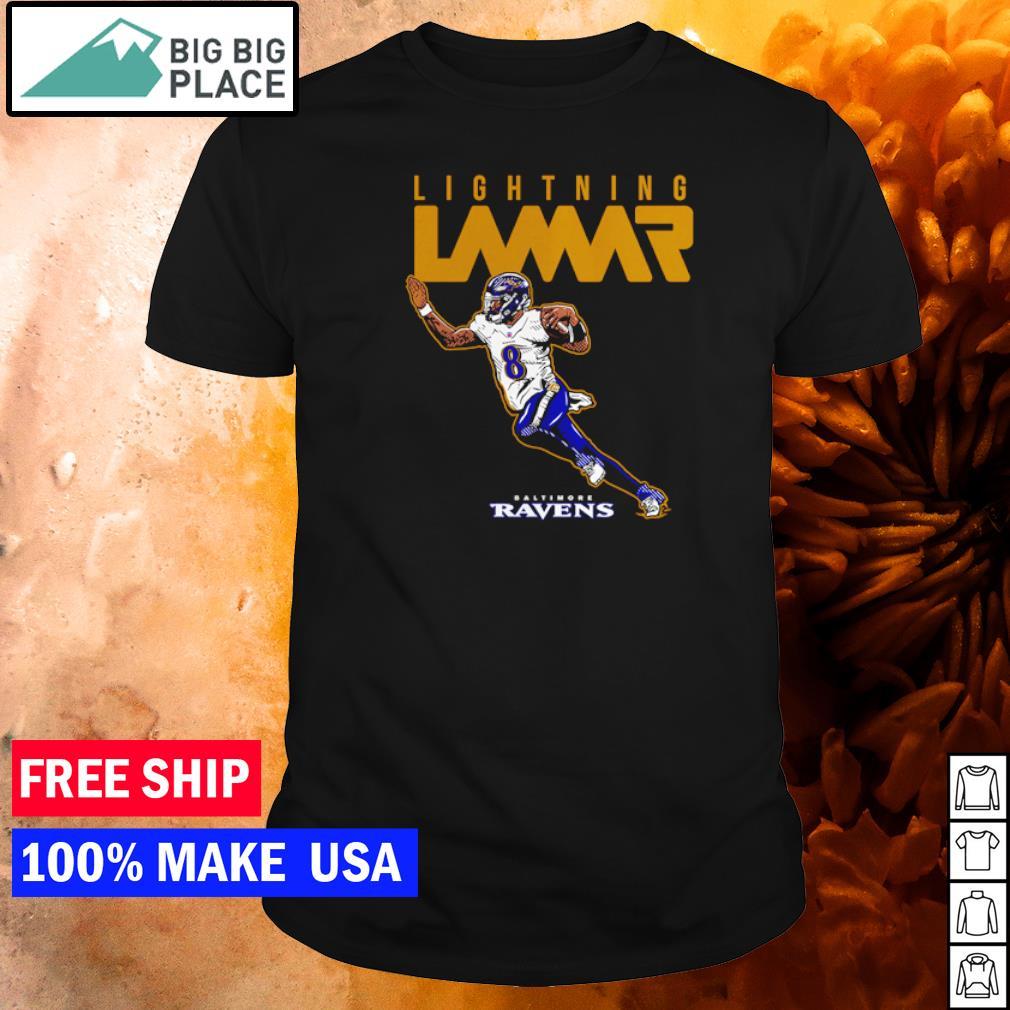 Baltimore Ravens lightning Lamar Jackson shirt