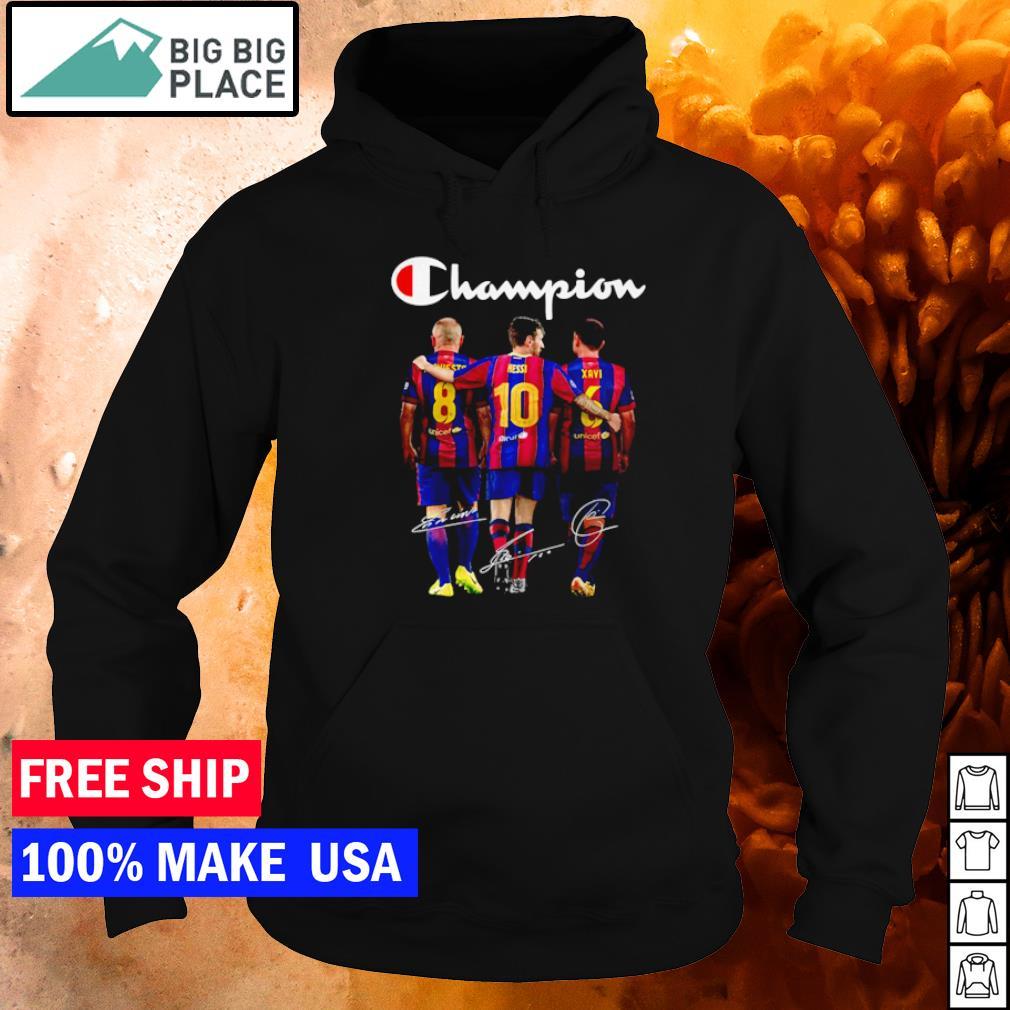 Barcelona Champion Iniesta Messi Xavi signature s hoodie