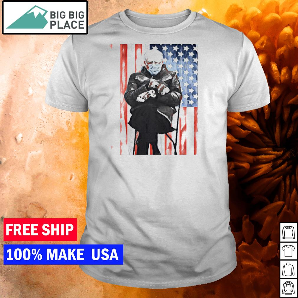Bernie Sanders meme inauguration's day 2021 American Flag shirt