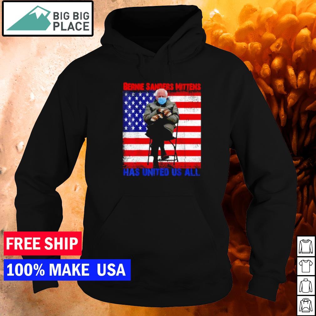 Bernie Sanders Mittens has united us all American Flag s hoodie