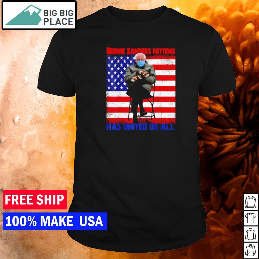 Bernie Sanders Mittens has united us all American Flag shirt