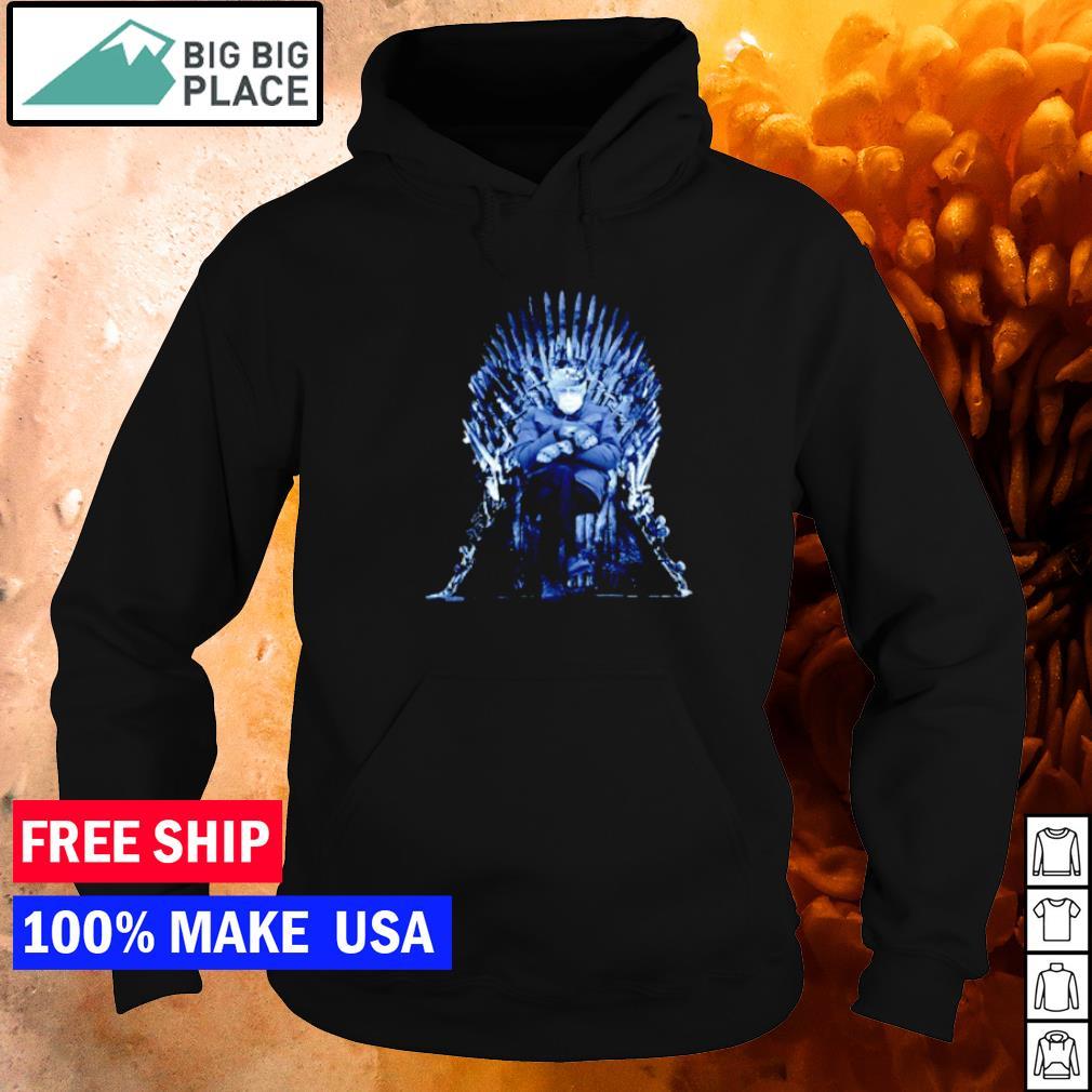 Bernie Sanders sitting on Game Of Thrones throne s hoodie