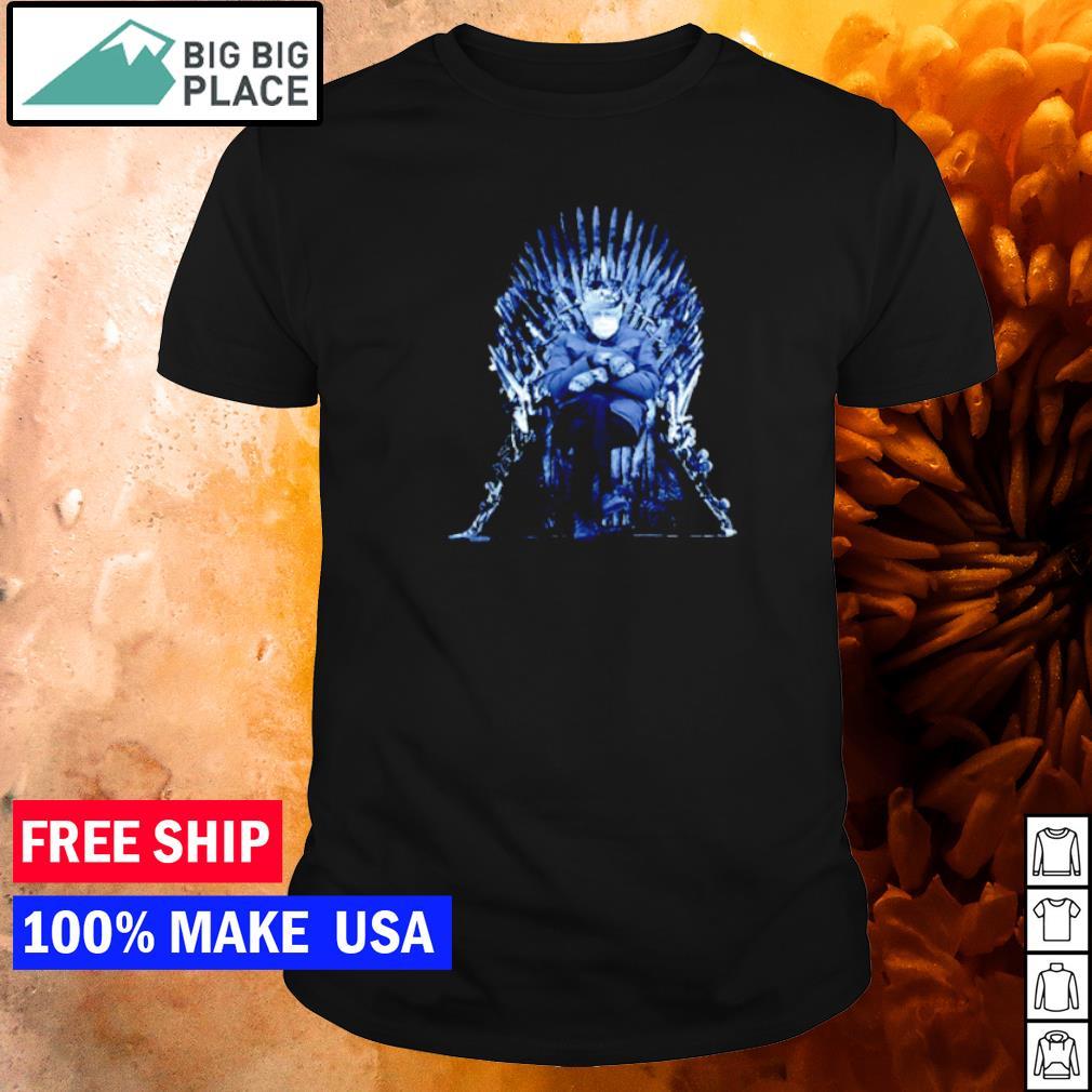 Bernie Sanders sitting on Game Of Thrones throne shirt