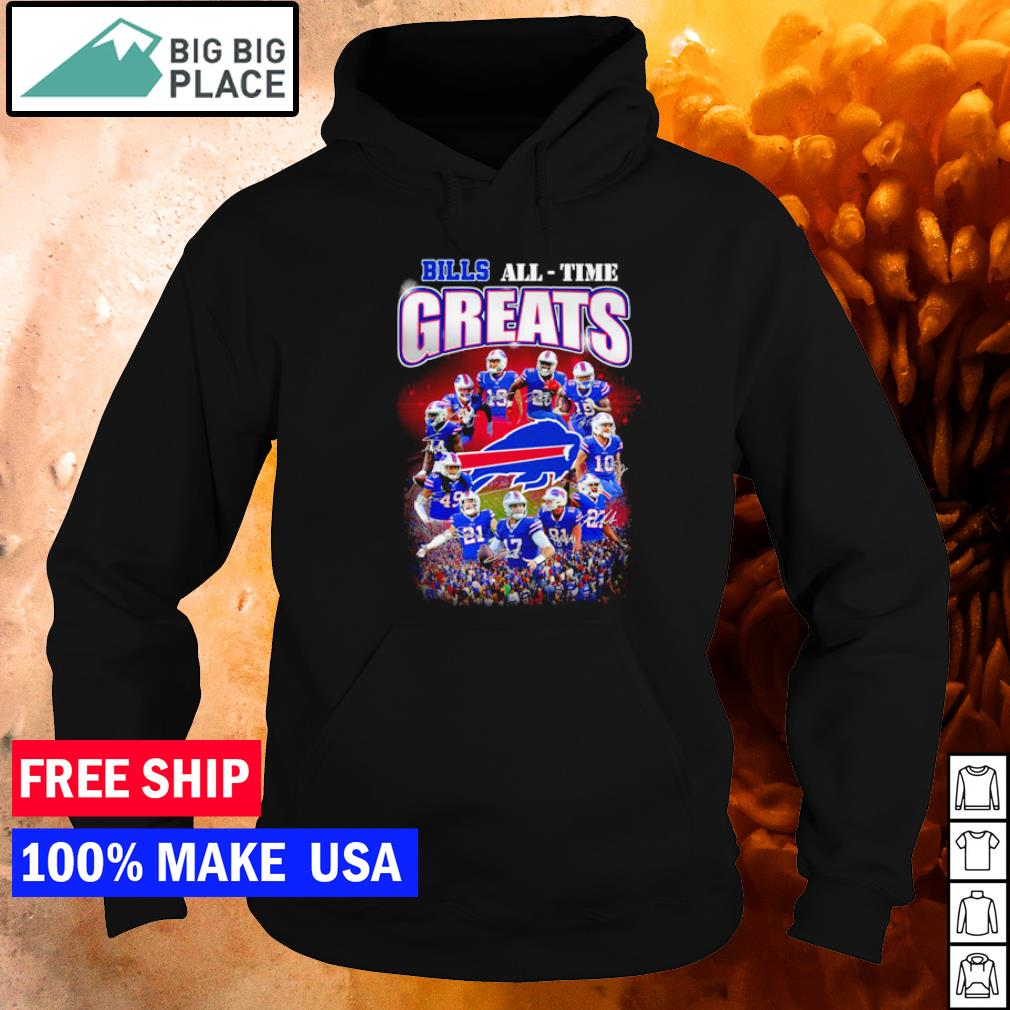 Buffalo Bills All-Time Greats player's signature NFL s hoodie