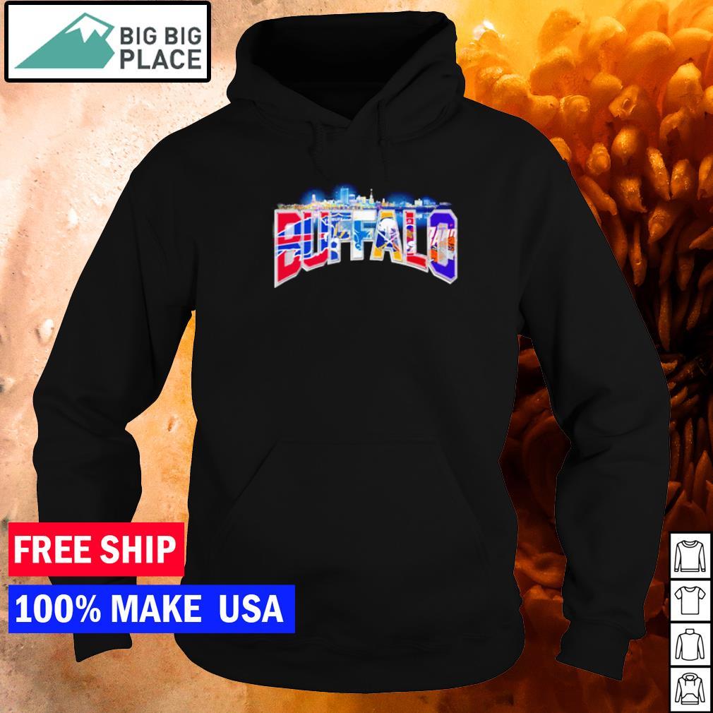 Buffalo Bills FC Sabers and Bisons sport teams s hoodie