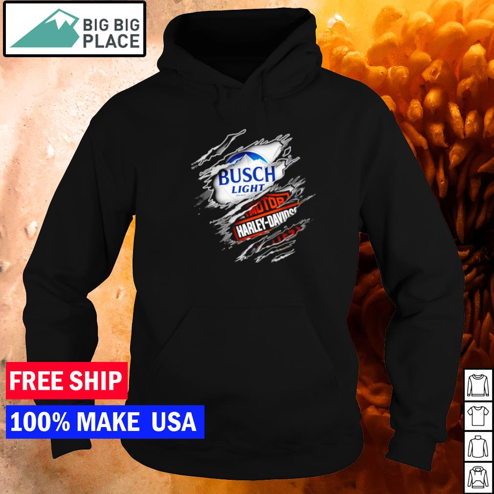Busch Light Beer and Motor Harley Davison Motorcycles s hoodie