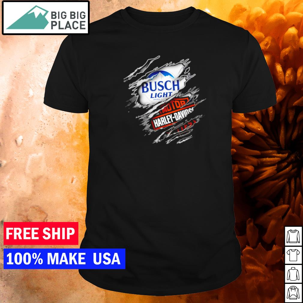 Busch Light Beer and Motor Harley Davison Motorcycles shirt