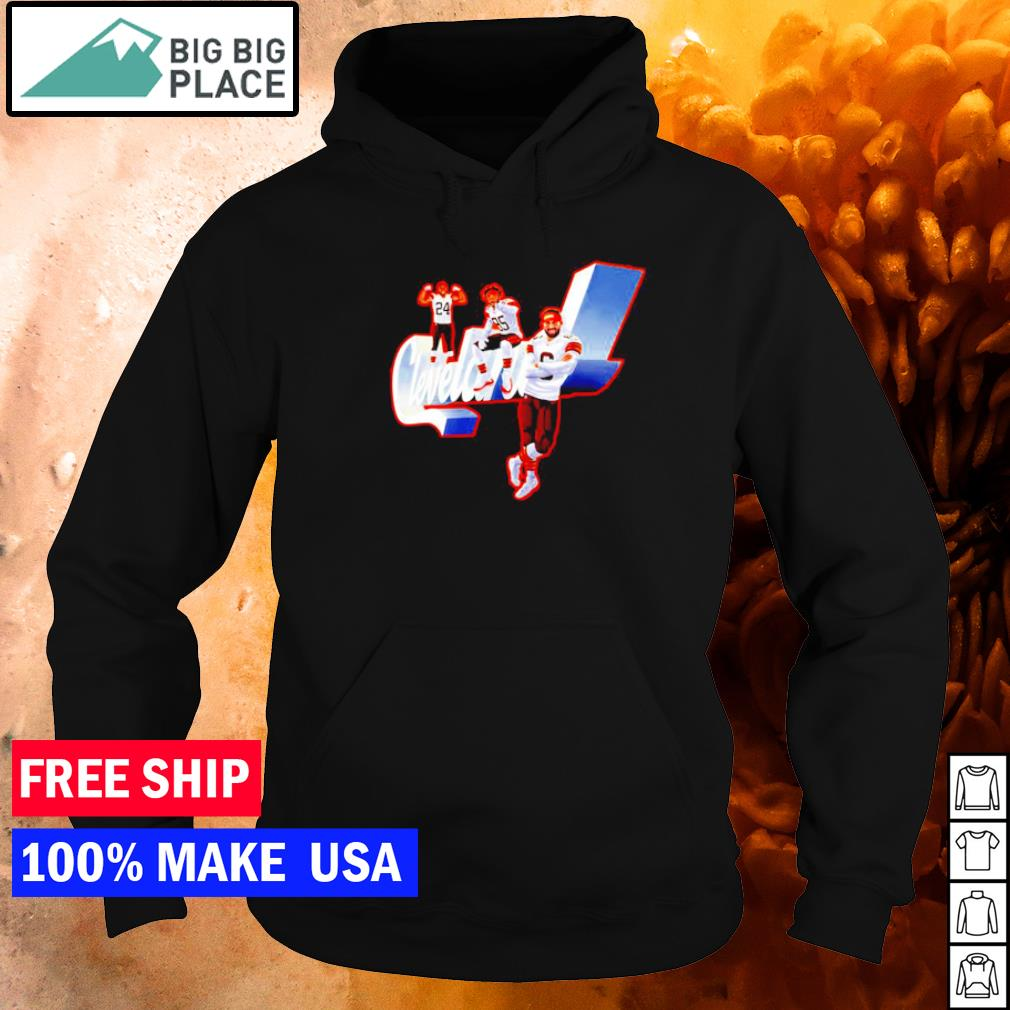 Cleveland Chubb 24 David 85 and Field 6 s hoodie