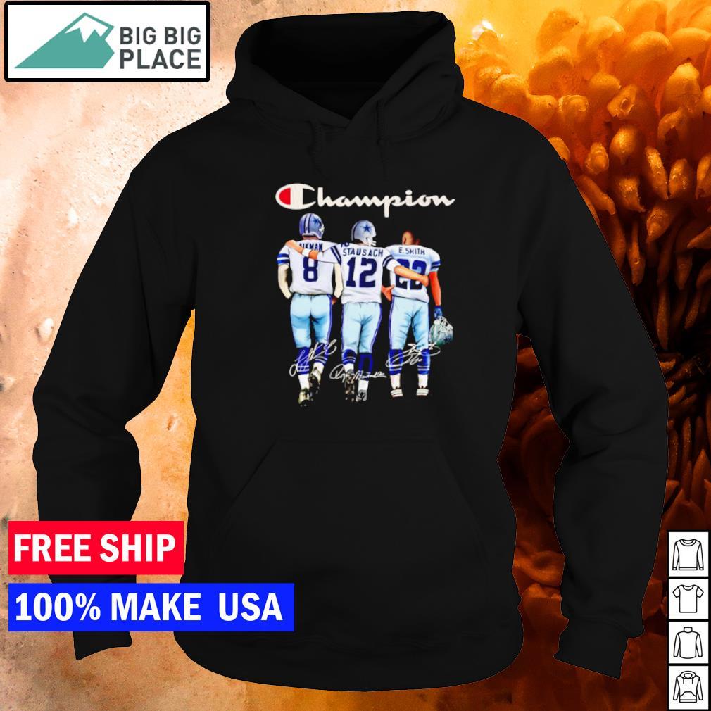 Dallas Cowboys Aikman Staubach E Smith champion signature s hoodie