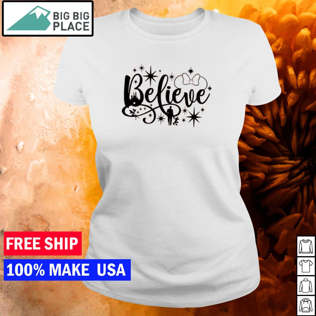Disney Mickey Mouse believe in yourself s ladies tee