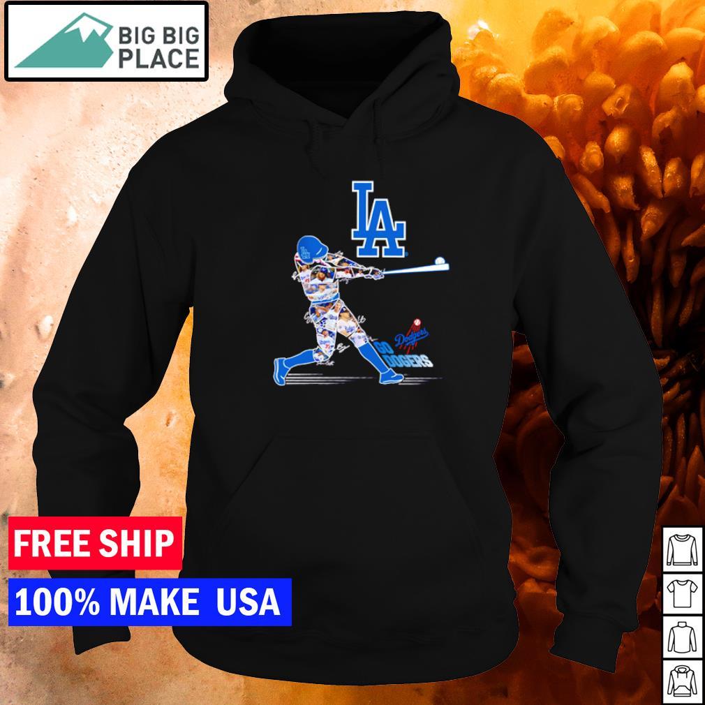 Go Dodgers Go Los Angeles Dodgers player's signature s hoodie