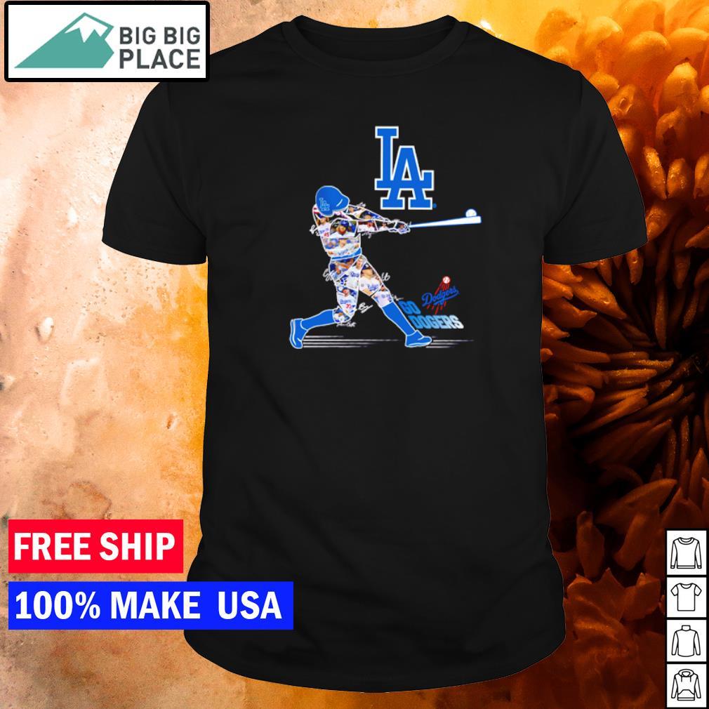 Go Dodgers Go Los Angeles Dodgers player's signature shirt