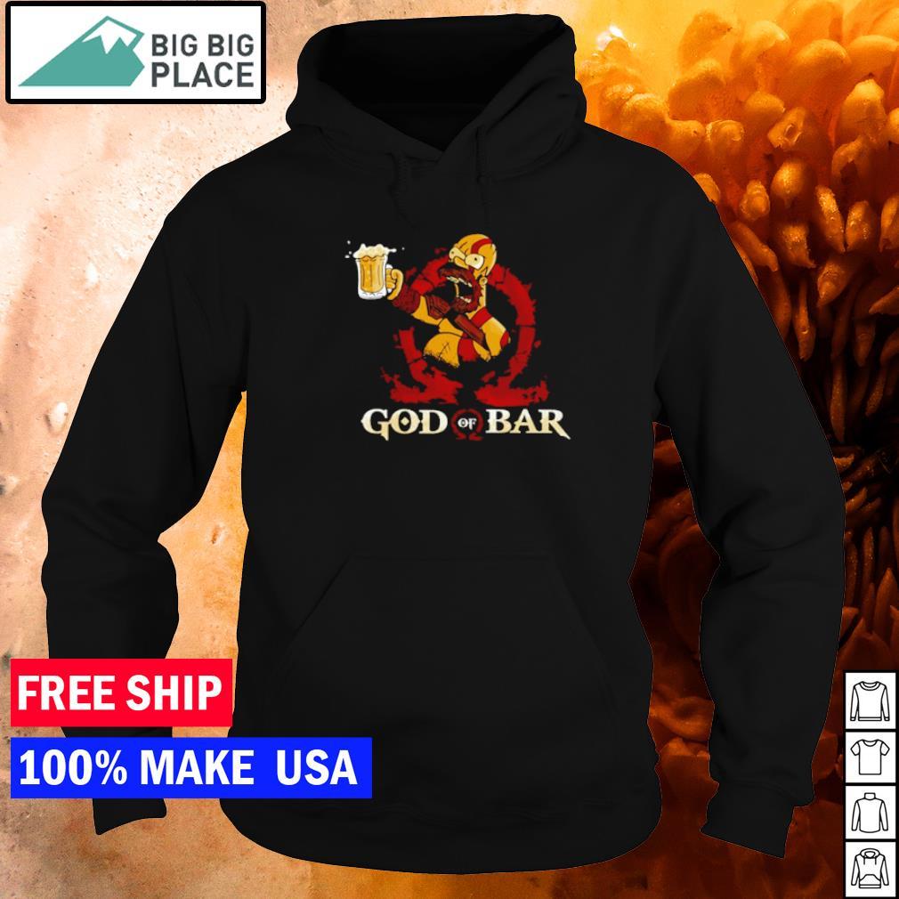 Homer Simpson drinking beer God of Bar s hoodie