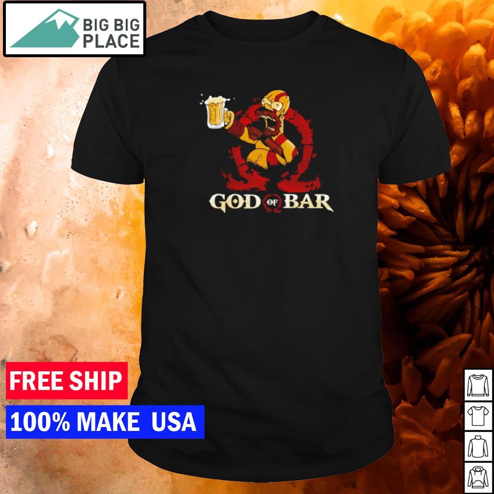 Homer Simpson drinking beer God of Bar shirt