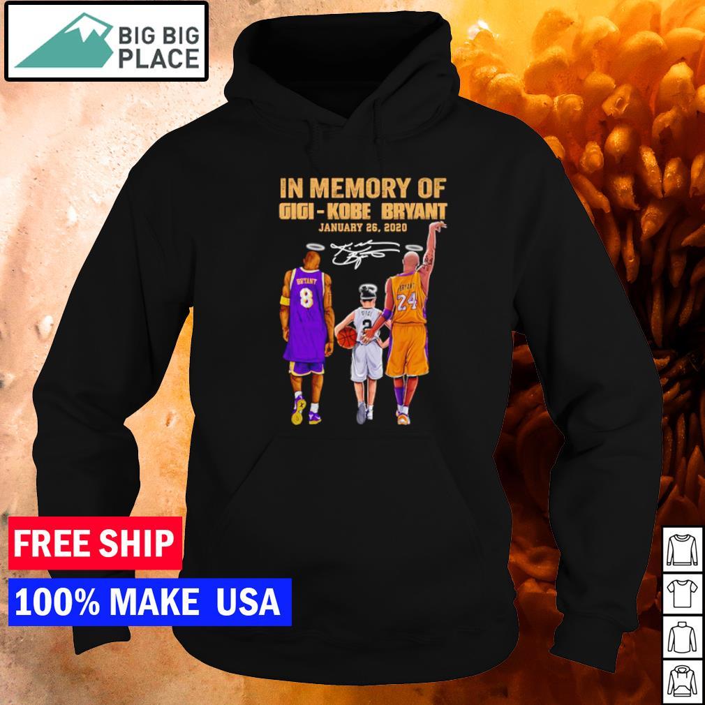 In memory of Gigi and Kobe Bryant january 26 2020 signature s hoodie