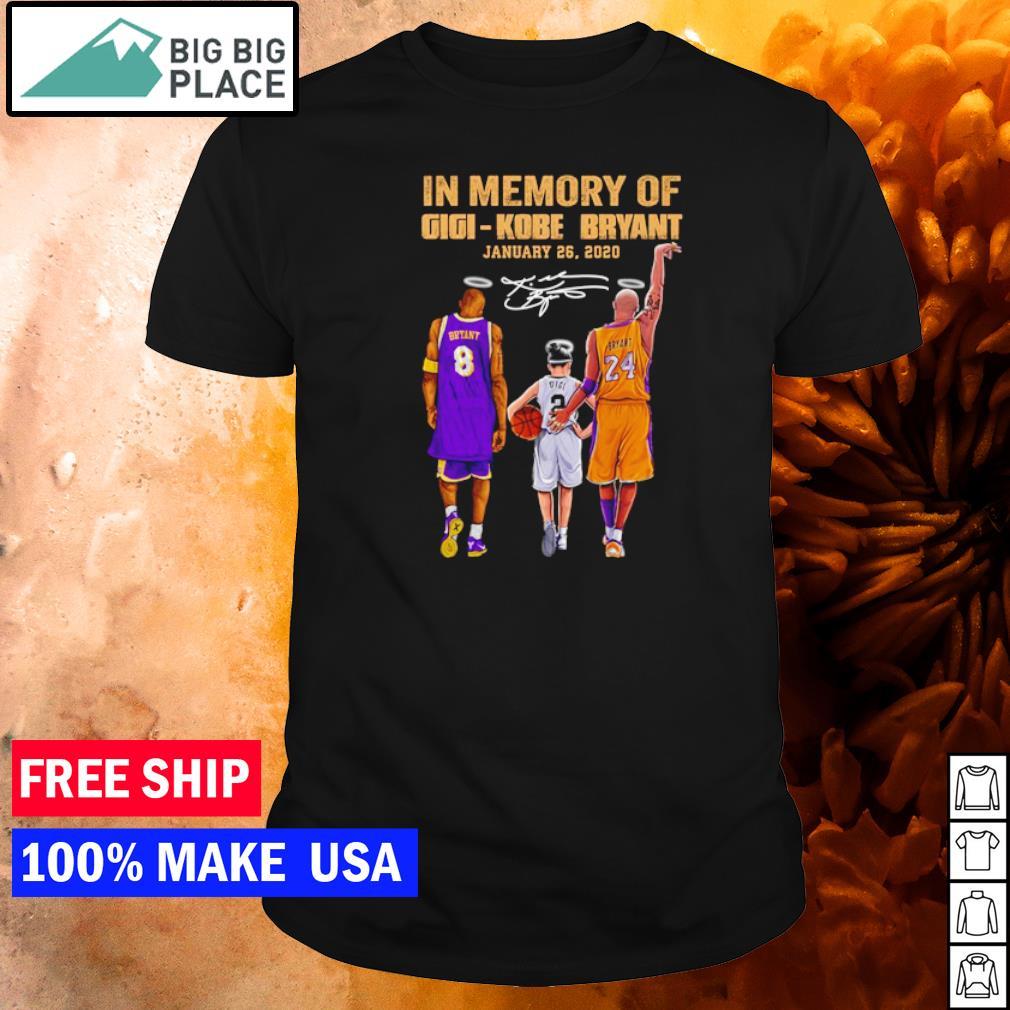 In memory of Gigi and Kobe Bryant january 26 2020 signature shirt