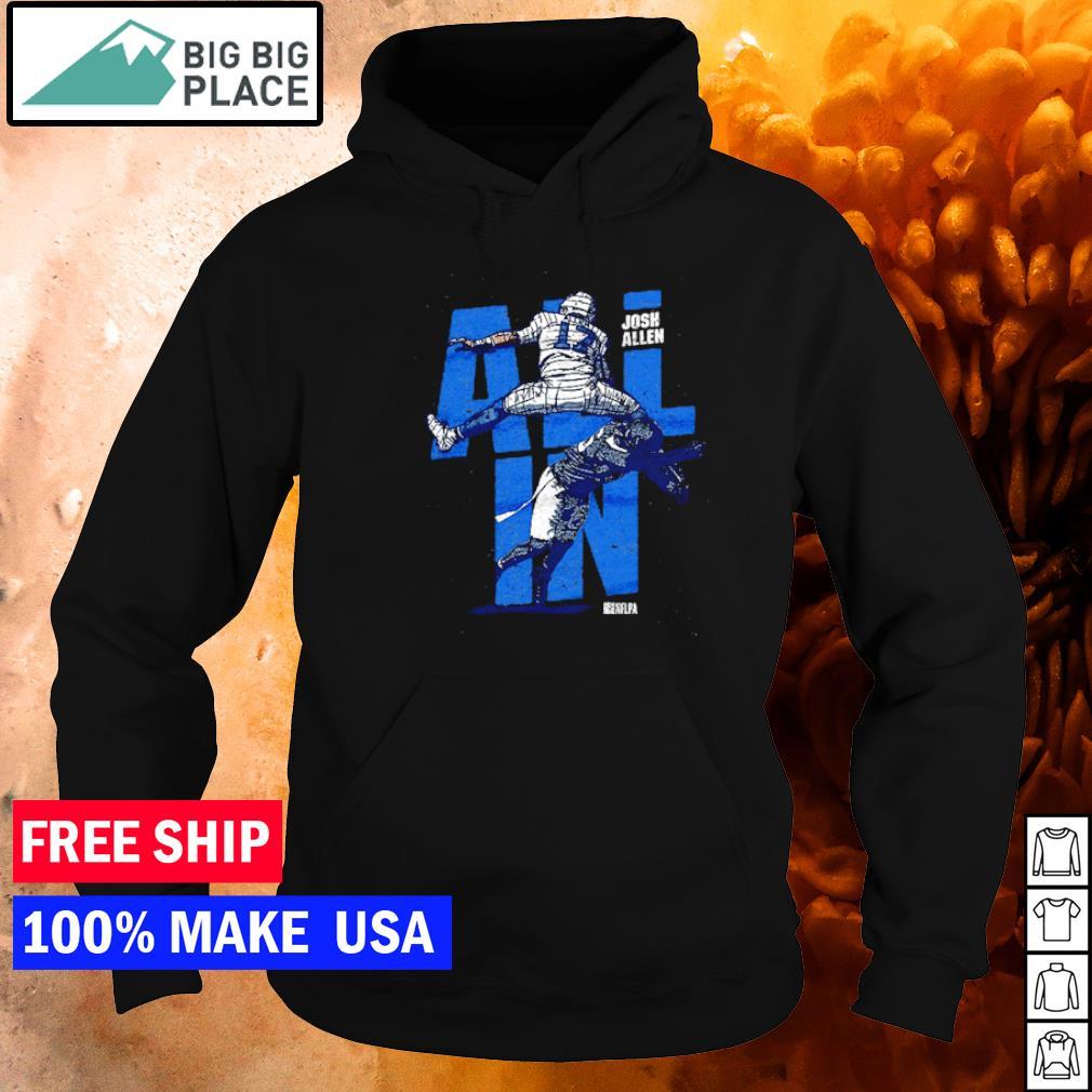 Josh Allen all in jump Buffalo Bills s hoodie