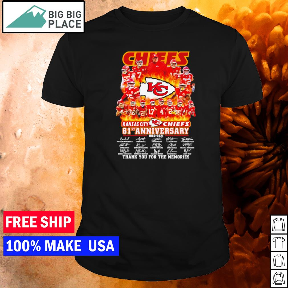 Kansas City Chiefs 61st anniversary thank you for the memories shirt