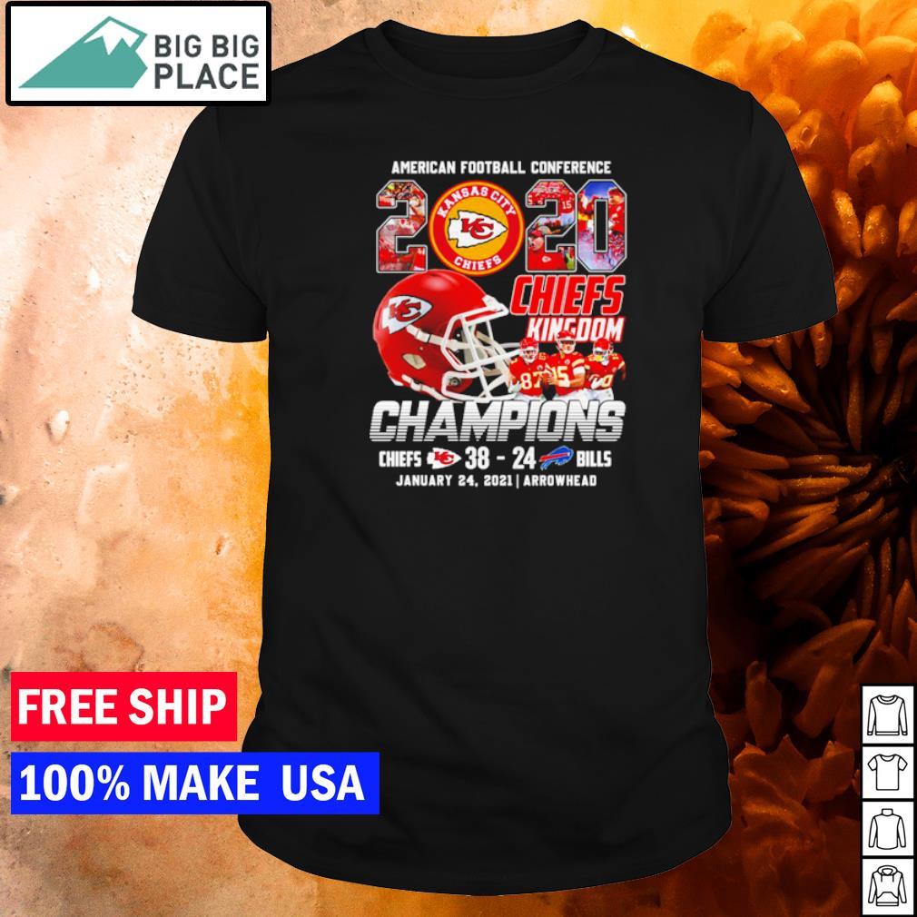 Kansas City Chiefs American Football Conferance 2020 Kingdown Champions shirt