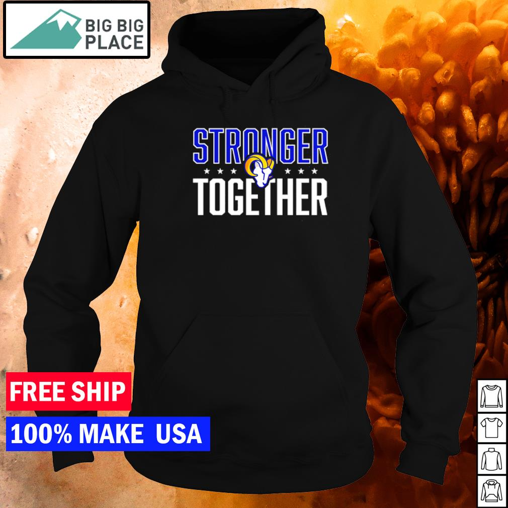 Los Angeles Rams stronger together logo s hoodie