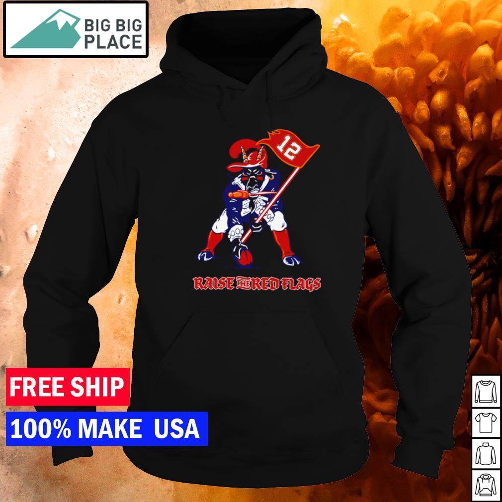 Mascot raise the red flags Tampa Bay Buccanneers s hoodie