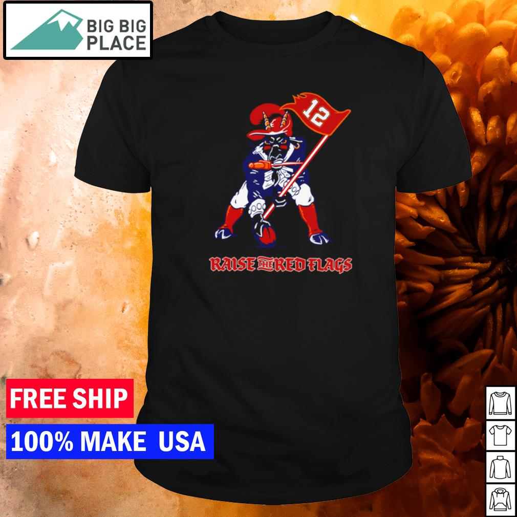 Mascot raise the red flags Tampa Bay Buccanneers shirt