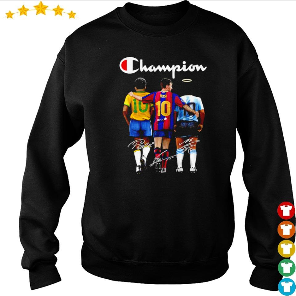 Messi Pele and Diego Maradona champion signature s sweater