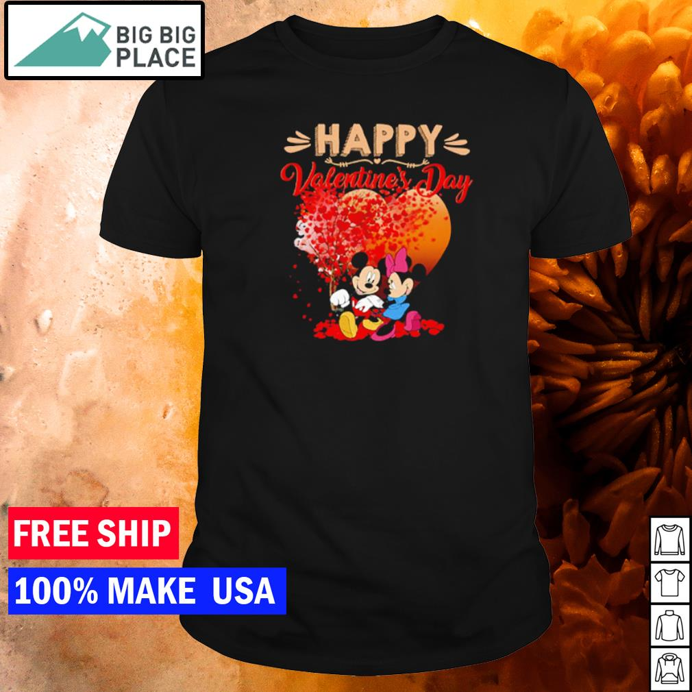 Mickey and Minnie happy Valentine's day shirt